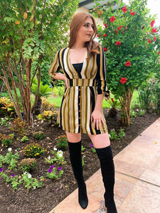 Fall Right Into You - Stripe Dress