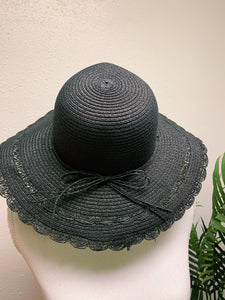 All Black Straw - Sun Hat