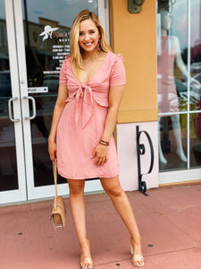 Pretty In Pink - Cut Out Dress