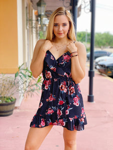 Black & Floral Tunic Dress