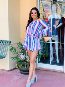 Spring Favorite - Striped Romper