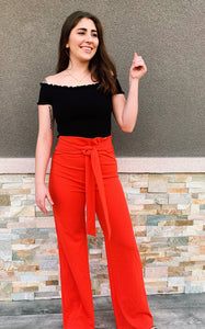 Autumn High Waisted - Dress Pants (Neon Coral)