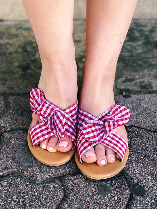 Red Bow Tie Sandals