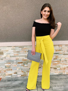 Autumn High Waisted - Dress Pants (Mustard)