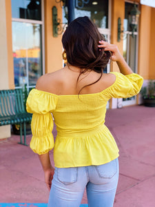 Mellow In Yellow - Smocked Top