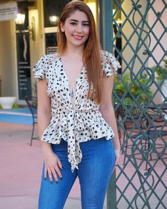 Girls Night Out - White Dalmation Blouse