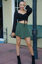 Load image into Gallery viewer, Olive Green Mini Skort