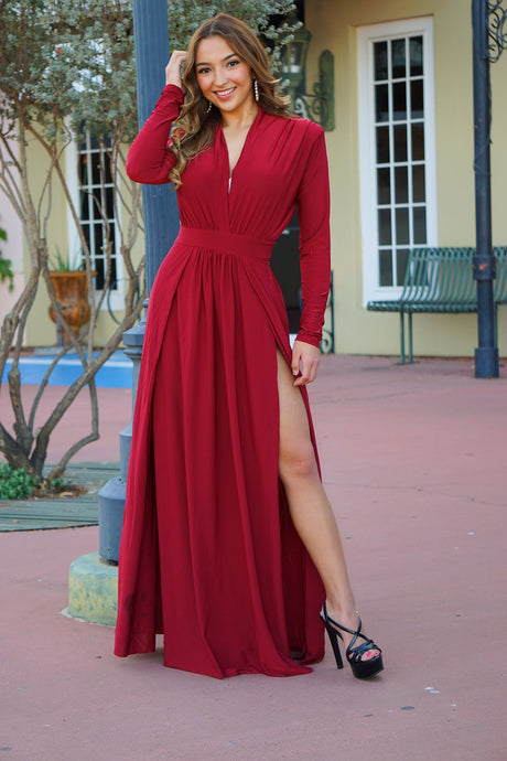 First Impressions - Maxi Open Slit Dress