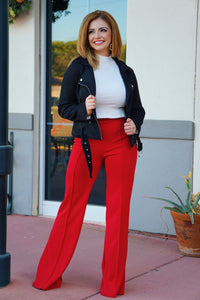 Under the Mistletoe - Red Flare Pants