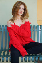 Load image into Gallery viewer, Dear Santa - Red Ribbed Sweater