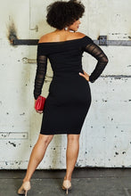 Load image into Gallery viewer, HEARTBREAKER - Black Bodycon Dress