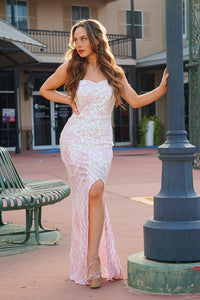 Not Your Barbie -  Pink Sequin Gown