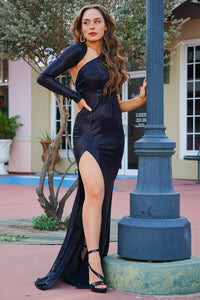 Great Gatsby - Black Sequin Gown