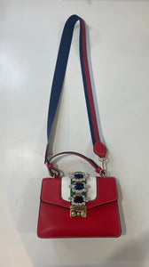 """BECCA"" - Red Jeweled Handbag"