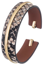 Load image into Gallery viewer, Faux Leather Snake Print Cuff