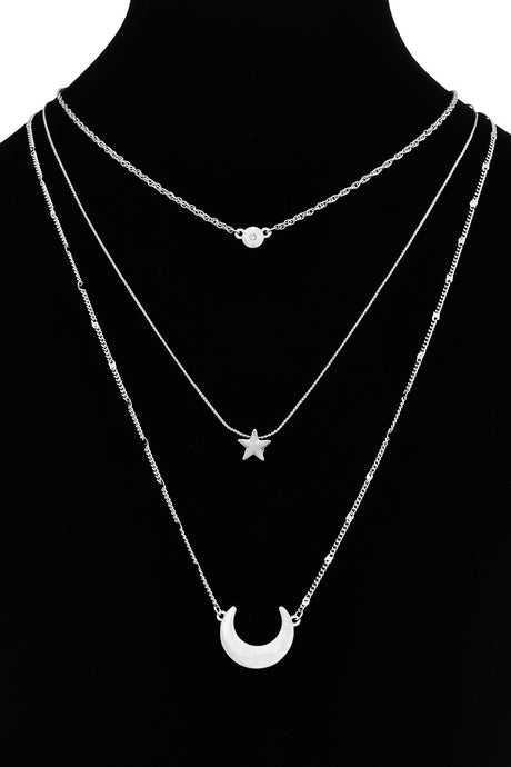 Moon + Star Layered Necklace