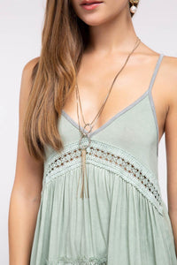 Gold Plated Drop Fringe Necklace