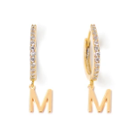 Load image into Gallery viewer, Large Letter Huggie Earrings - Tess+Tricia