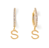 Large Letter Huggie Earrings - Tess+Tricia