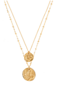 (Pre Order) Duo Charm Bloom Necklace - Tess + Tricia Collection
