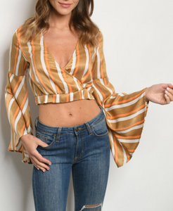 Fallin' In Stripes Crop Blouse