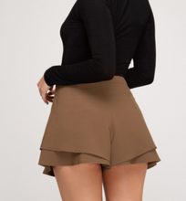 Load image into Gallery viewer, Mocha Brown Layered Shorts