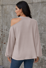 Load image into Gallery viewer, Grey Cold Shoulder Blouse