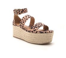 Load image into Gallery viewer, Leopard 3 Band Sandal