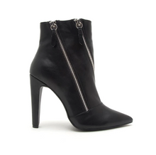 Load image into Gallery viewer, Risky In Black Double Zipper Bootie