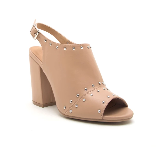 Studded Toffee - Slingback Ankle