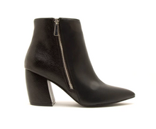 Load image into Gallery viewer, Black Side Zipper Bootie