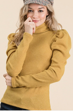 Load image into Gallery viewer, Puff Up Turtle Neck In Mustard
