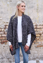 Load image into Gallery viewer, Charlotte Cape Wrap In Black