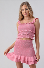 Load image into Gallery viewer, Smocked in Rose Blush - Skirt Set