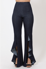 Load image into Gallery viewer, Ruffle Slit Bell-Bottoms Pants