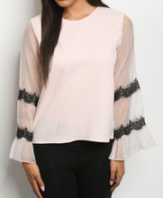 Load image into Gallery viewer, Sheer & Blush Blouse