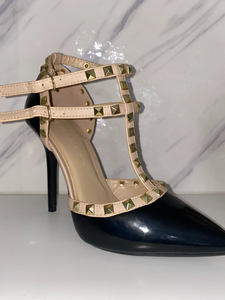 Black Valentino Inspired Heels