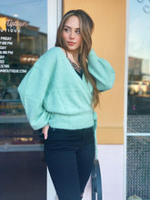 Load image into Gallery viewer, Mint Wrap Knit Sweater