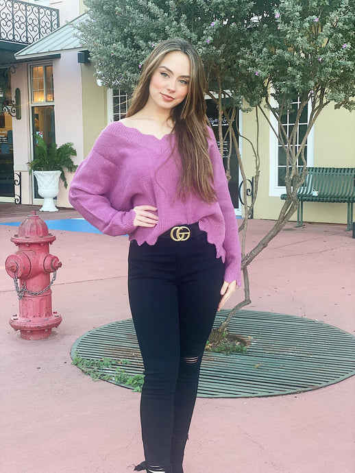 The Perfect Girlfriend - Mauve Sweater