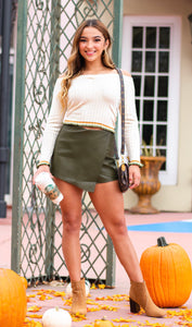 Fall Go To Olive Skort