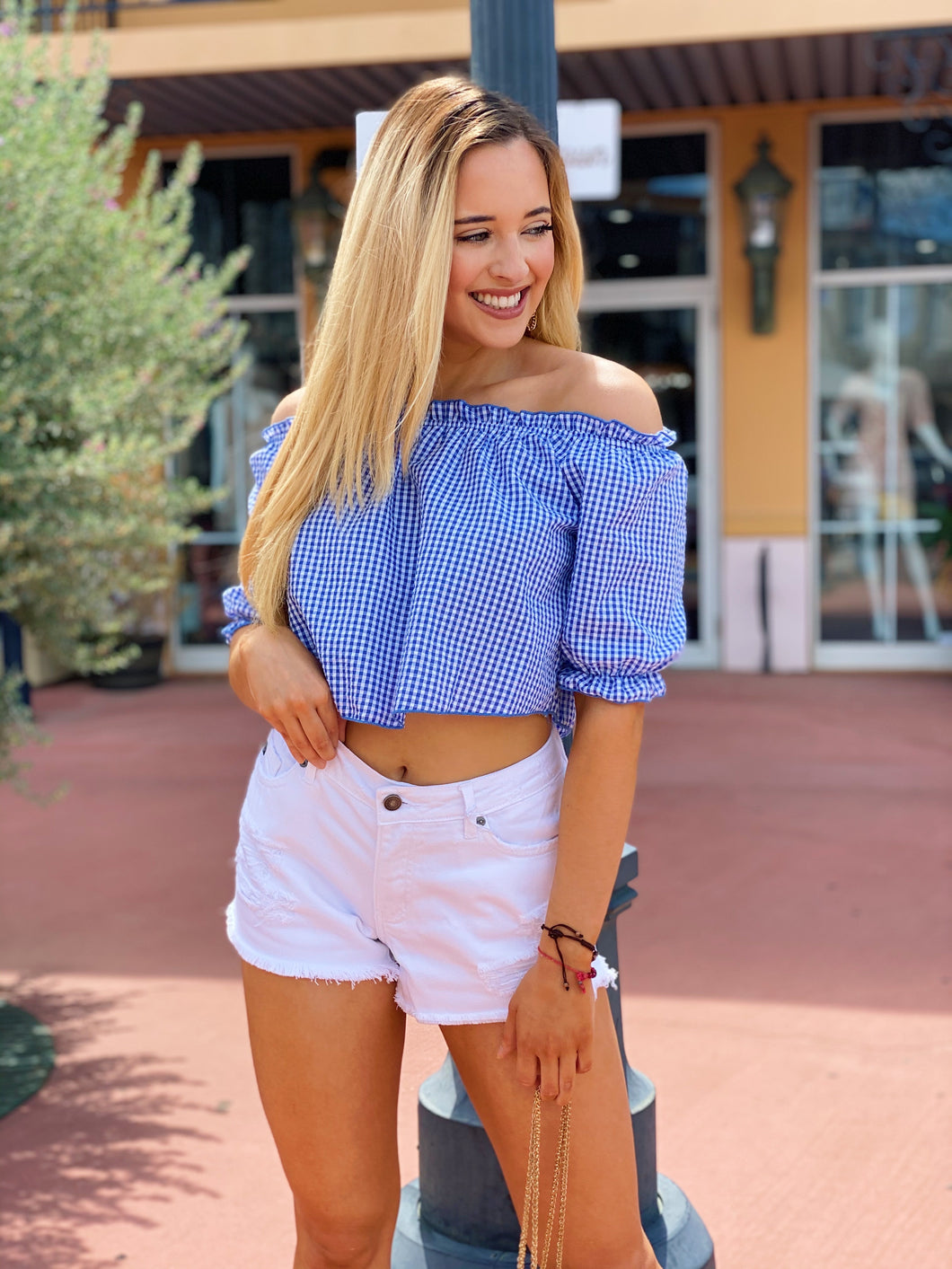 Puff Sleeve Lover In Blue - Blouse