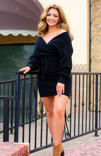 Load image into Gallery viewer, Gimme a Little Black Sweater Dress