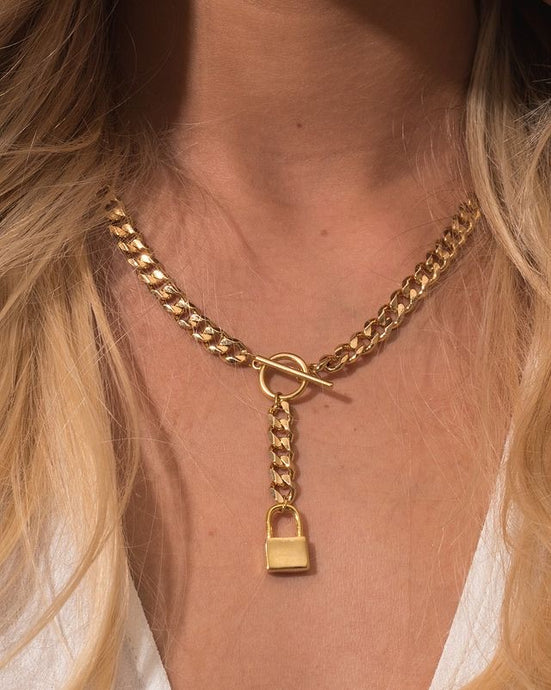 Tess + Tricia Lock Lariat Necklace (PRE-ORDER)
