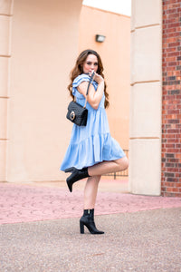 Sky Blue Babydoll Dress