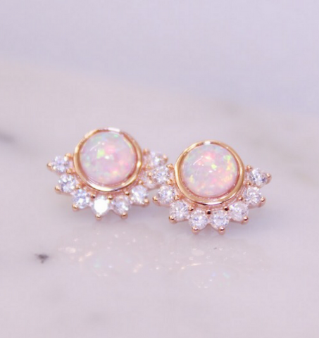 Chloe and Lois Opal Bridal Jewelry