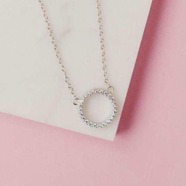 Slim Circle Necklace Necklaces Chloe + Lois