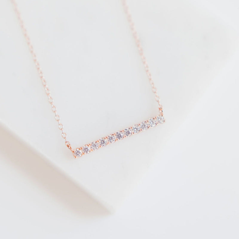 Pavé Bar Layering Necklace