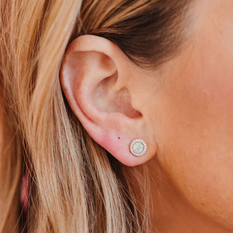 Chloe + Lois Circle Cotton Candy Studs