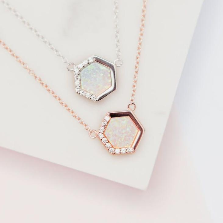 Stardust Layering Necklace Earrings Chloe + Lois Rose Gold