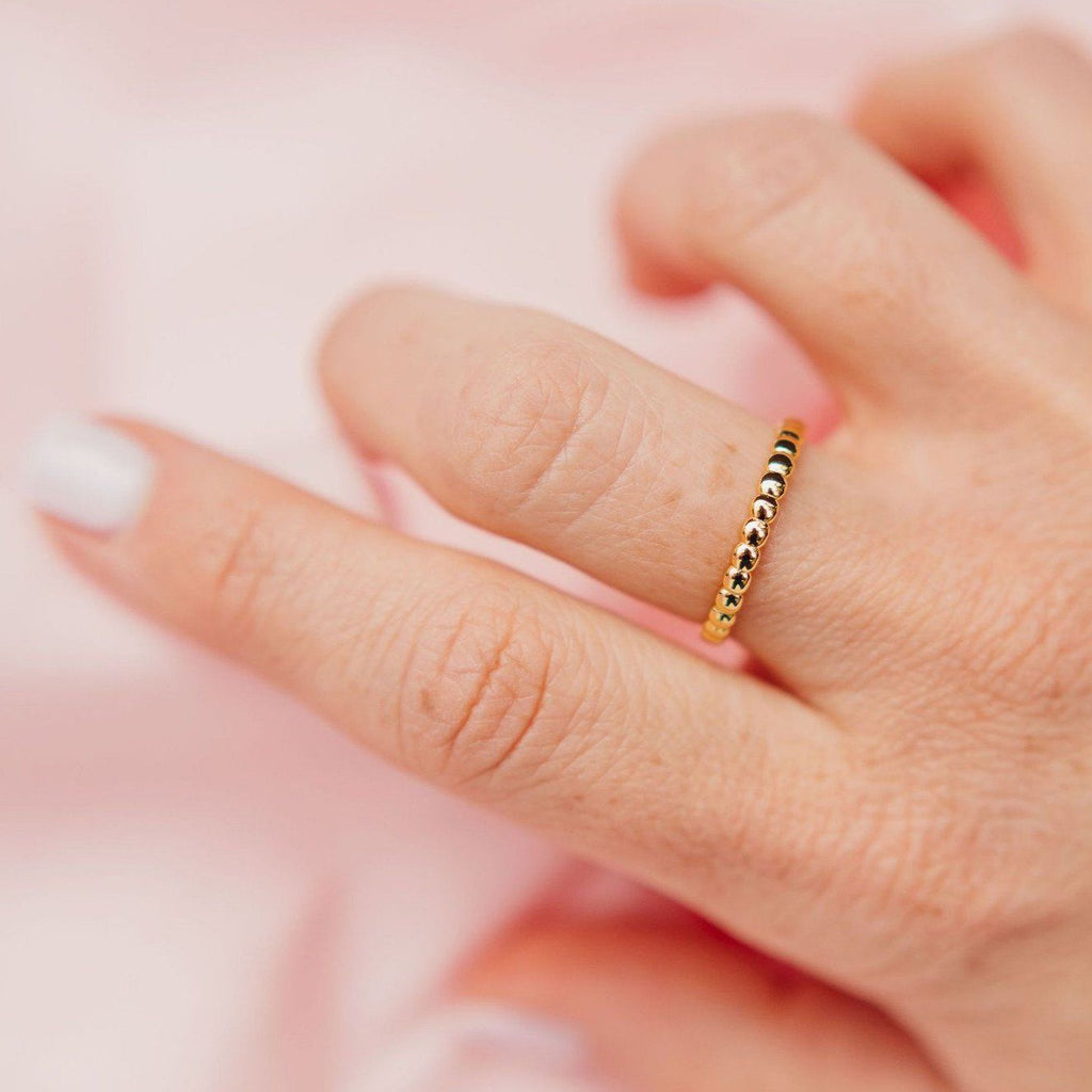 Beaded Slim Stacking Ring Chloe + Lois